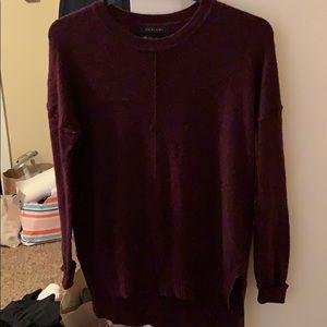 Tahari Deep dark purple longsleeved sweater